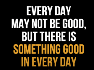 Seeing Something Good, Even When It's Bad